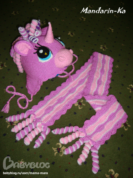 Шапочка-пони для доченьки