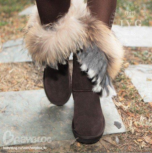 подо что носить угги с мехом лисы