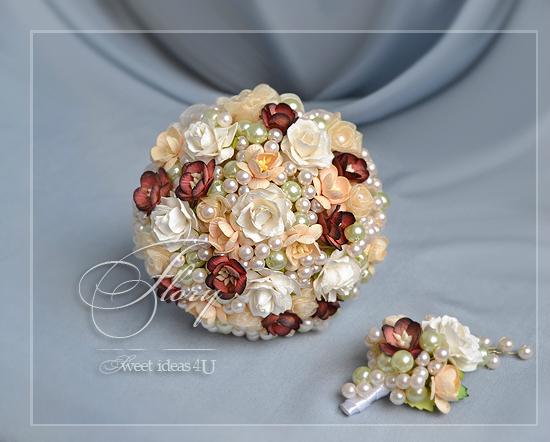 Букет невесты из бижутерии