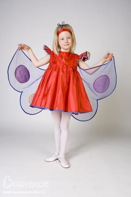 Новогодний костюм бабочки для девочки своими руками выкройки