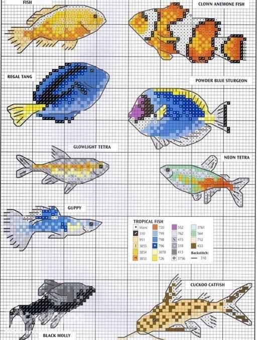 Золотая рыбка схема для вышивки бисером