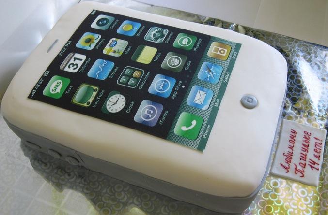Как сделать торт iphone