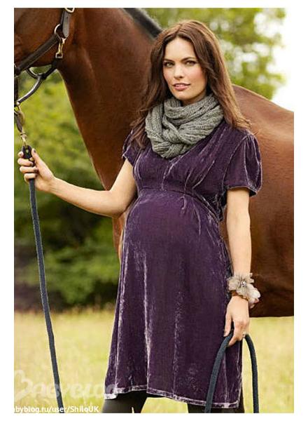 бархатное  платье  для  беременной  цвет  лиловый  фиолетовый