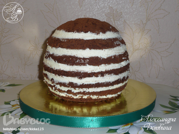 как приготовить торт в виде футбольного мяча