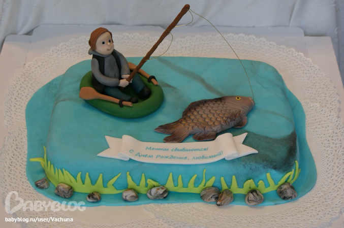 Торт рыбаку рецепт