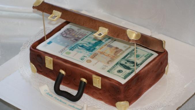 Торт открытый чемодан с деньгами мастер класс с пошаговым