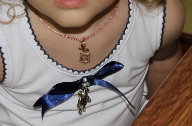Веревочка для крестика  для ребенка