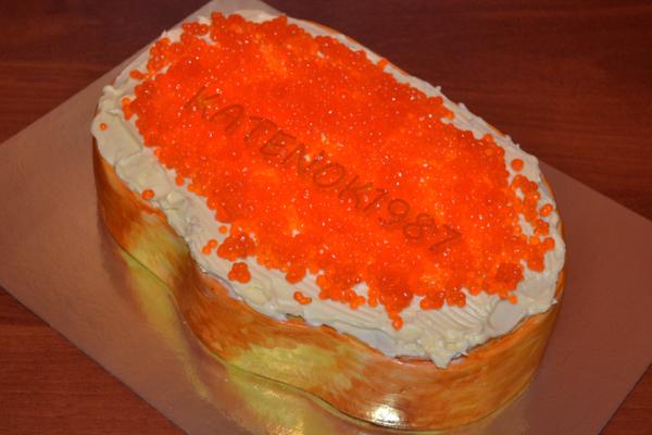 мастер класс как сделать тортик бутерброд с икрой