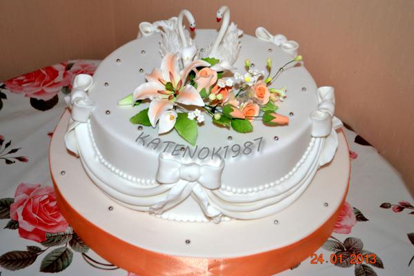 Лебеди из крема. Украшение торта Тонины тортики 60