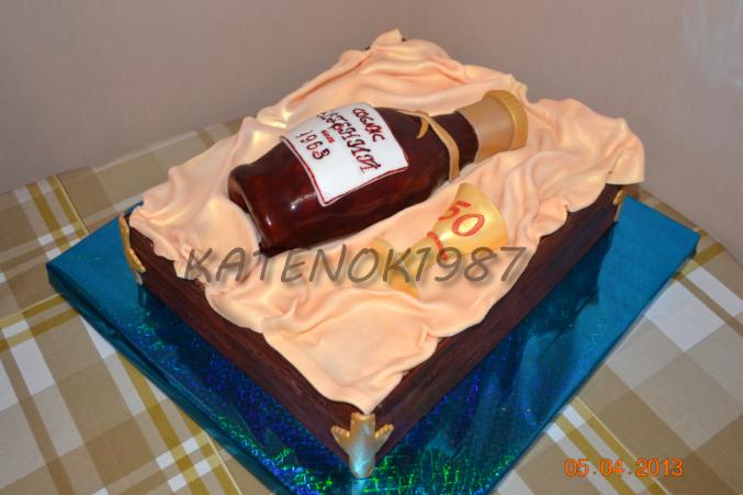 Торт фото бутылка