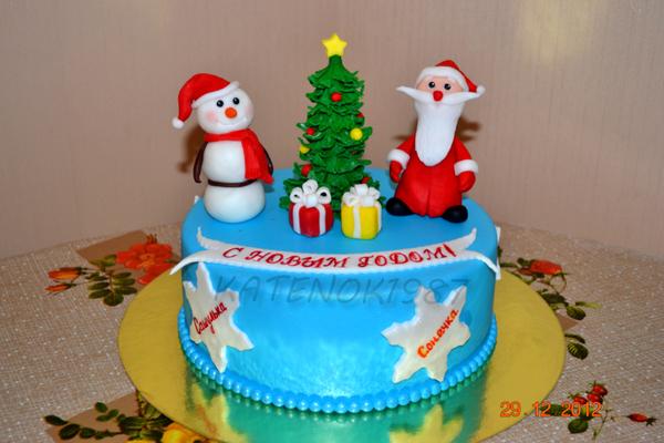 Новогодние торты фотографии
