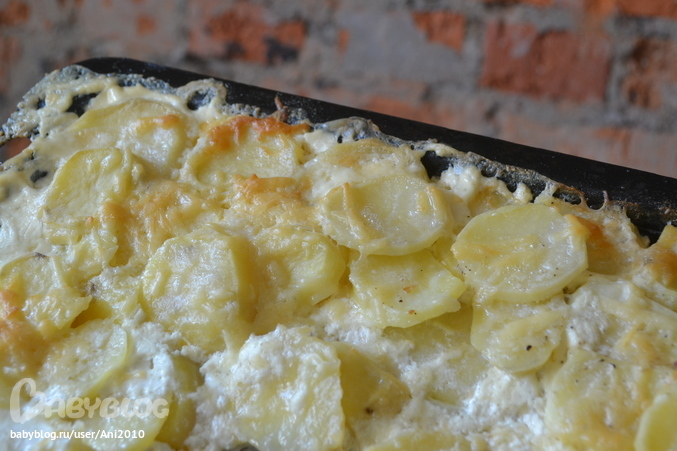Запеканка картофельная со сливками