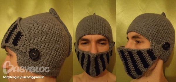 шапка-шлем рыцаря. повтор