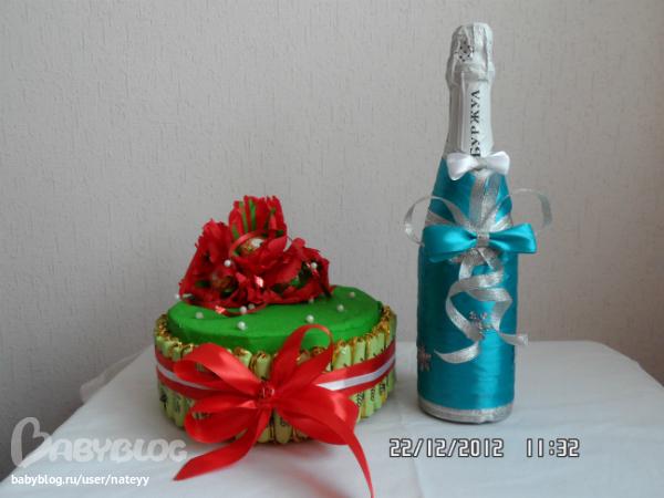 Подарок маме из бутылки