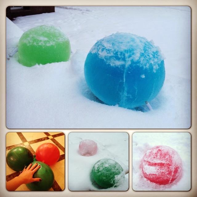 Цветной лед своими руками