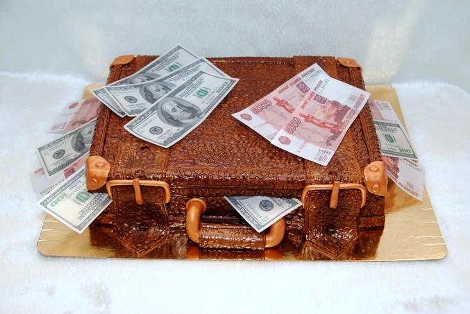 торт в виде чемодана денег фото