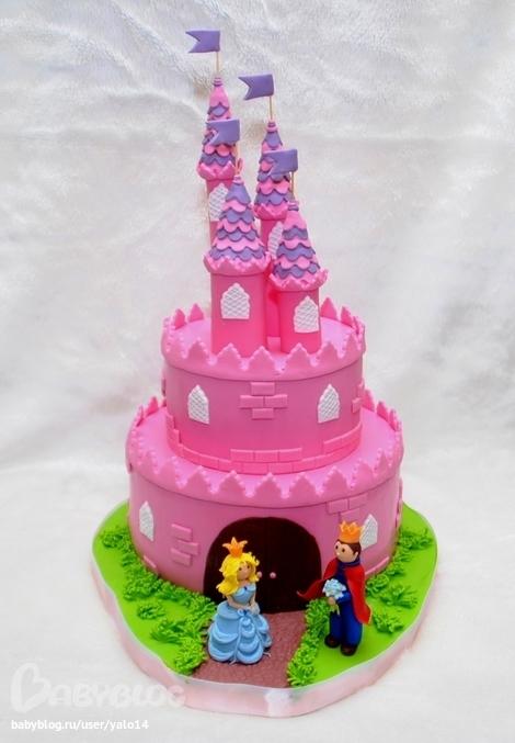Торт замак для девочки фото