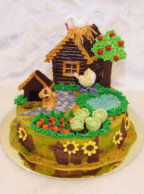 фото торт дом
