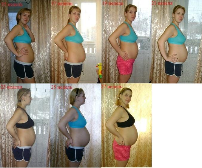 Фото живота по неделям при третьей беременности