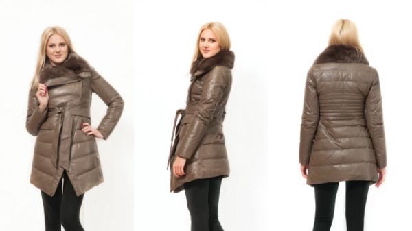 Женская кожаная куртка с мехом норки Артикул  738 Производитель  Турция  Размеры  42-50 Зимняя кожаная удлиненная куртка с мехом норки a68eee73b72e0