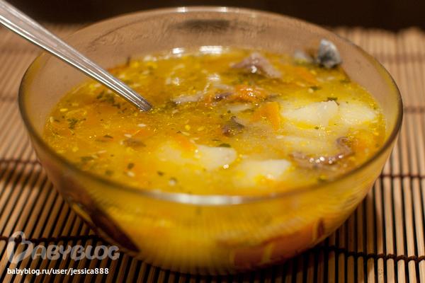 Суп с гусиными потрохами рецепт