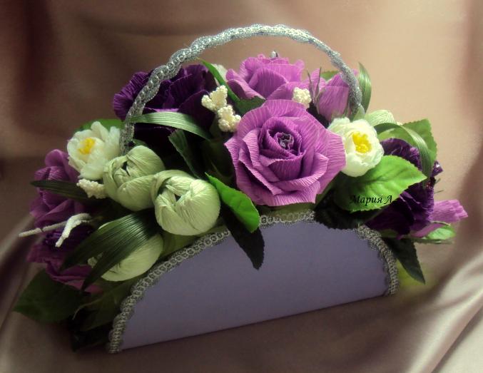 Букет из цветов с конфетами мастер класс