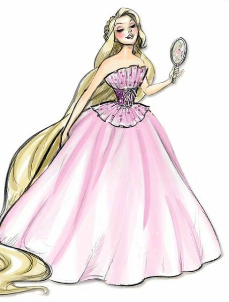 принцессы картинки для срисовки