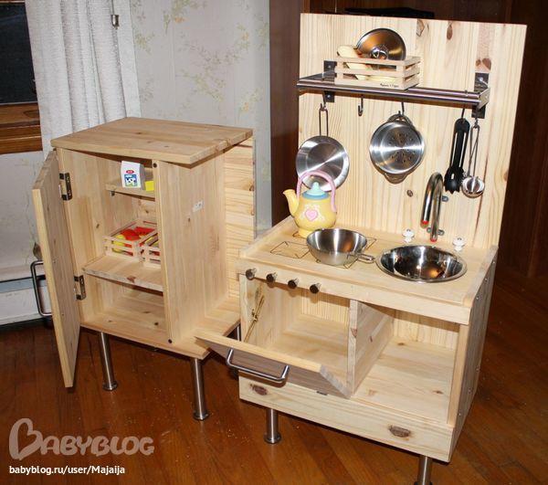 Детская кухня из досок
