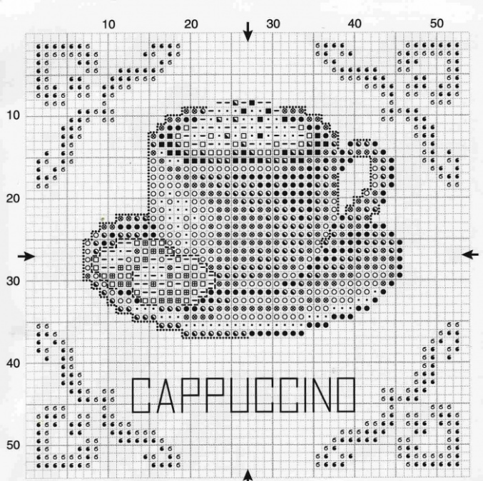 Схема кофе для вышивки 59