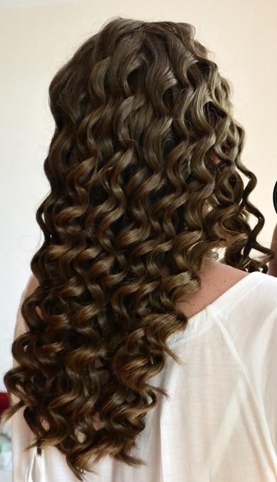 Как сделать на густых волосах кудри