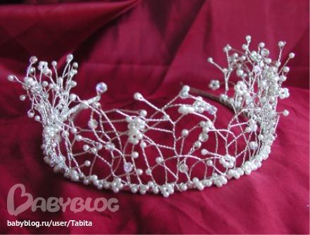 Как сделать корону из мишуры своими руками