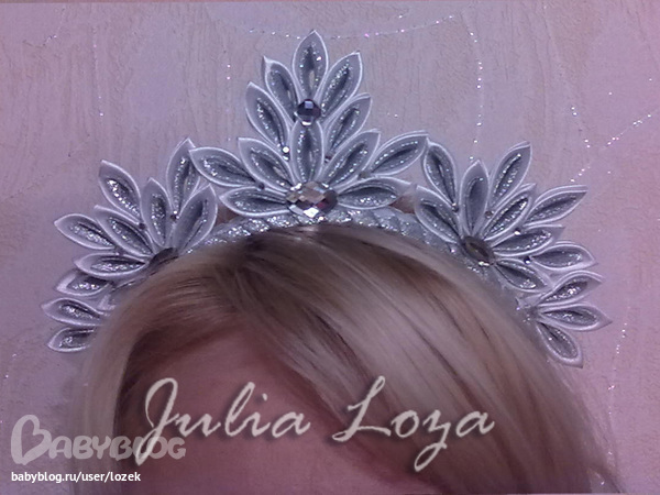 Как сделать корону снежинки для девочки