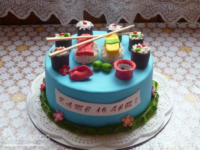 Торт с 16летием фото