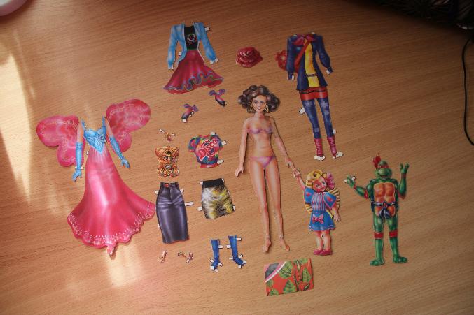 Ня картинки - бумажная кукла линда - Няшки.
