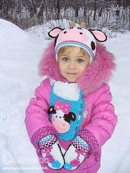 مدل شال و کلاه طرح دار کودکانه بچه گانه مدل دستکش بافت بچه گانه