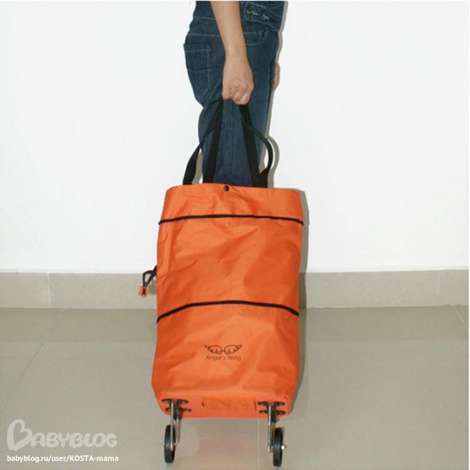 Стильные складные сумки на колесах