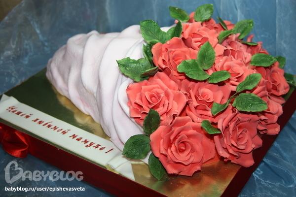 Торт букет из цветов