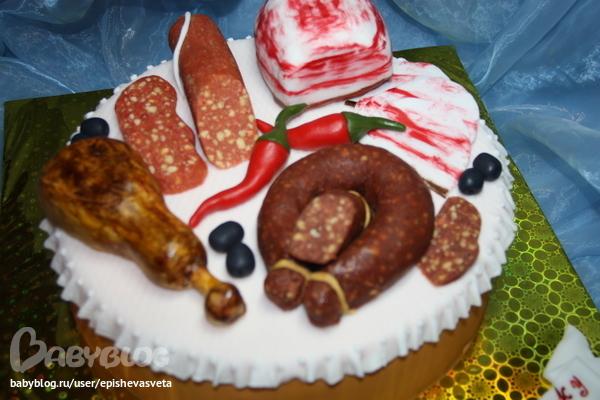 Фото тортов в виде колбасы