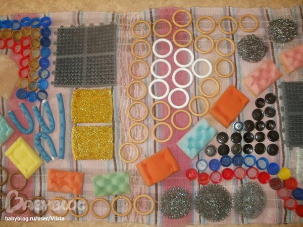 Как сшить массажный коврик для детей