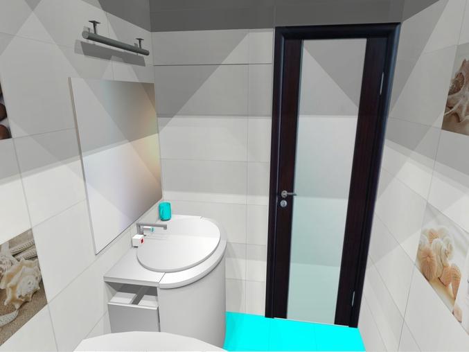Зеркальная стена ванной фото