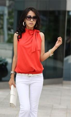 Блузка Без Рукавов Фото