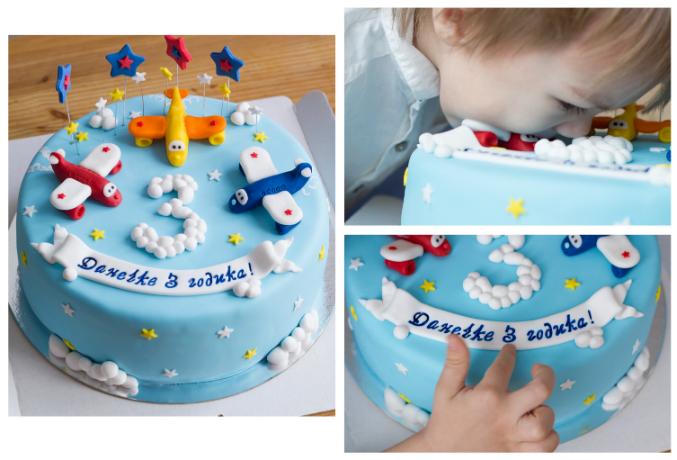 Торт своими руками для мальчика 3 года 29