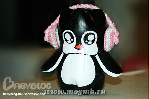 Пингвин поделки из пластиковых бутылок 52
