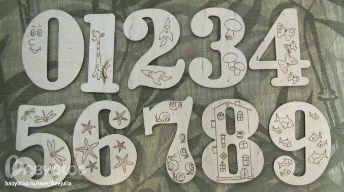 Как сделать надписи цифрами 151