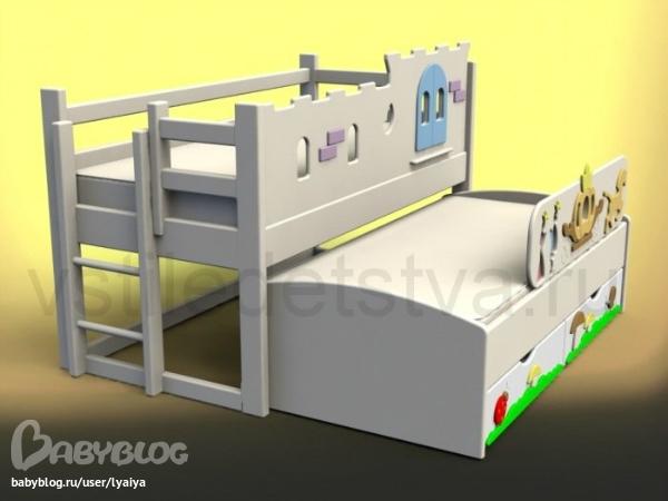 Детскую кровать от 3 лет  бу