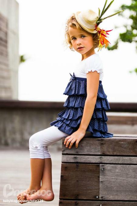 детское ярусное платье