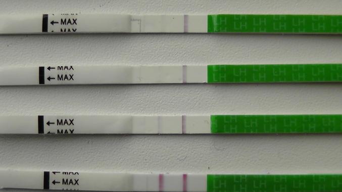 Полторы полоски на тесте на беременность что означает