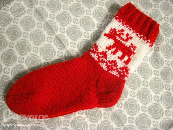 Вязаные носки своими руками