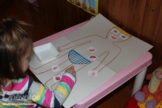 знакомство детей с телом лицо
