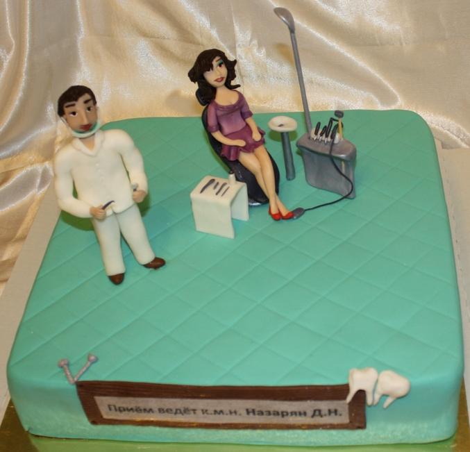 Торт стоматологу фото